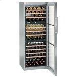 Liebherr26&quot Freestanding Wine Cabinet, 178 Bottle Capacity, 10 Telescopic Wood Shelves, 3 Temperature Zones, Reversible Door Swing, SoftSystem, Activated Charcoal Filter - Stainless Steel