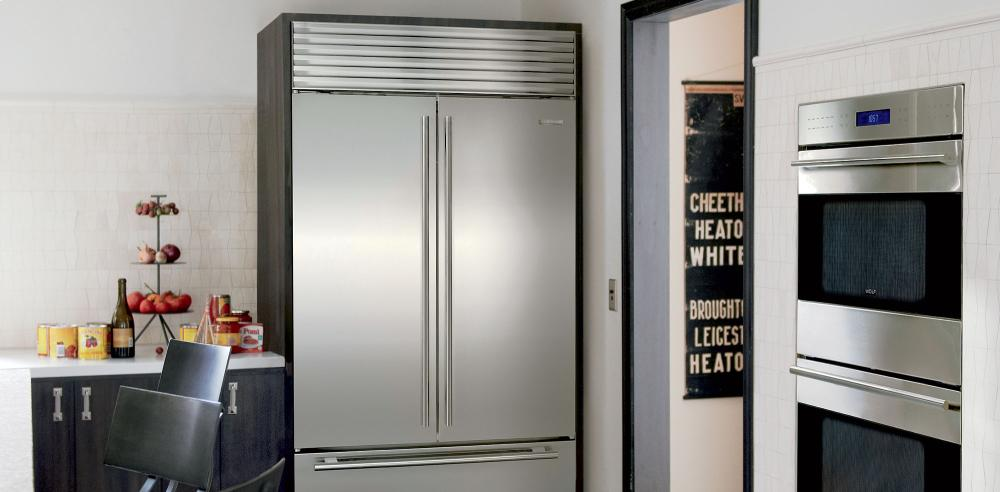 Sub Zero Bi 42ufd Over And Under With French Door   Classic Stainless