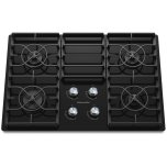 Kitchenaid30'' Gas Cooktop, 4 Sealed Burners, 17K BTU Professional Burner, Infinite heat controls, Full-Width Cast-Iron Grates, Ceramic-glass surface - Black