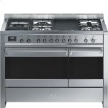 SmegSmeg Free-standing Dual Fuel Dual Cavity &quotOpera&quot Range Approx. 48&quot Stainless Steel Gas Rangetop With Electric Grill