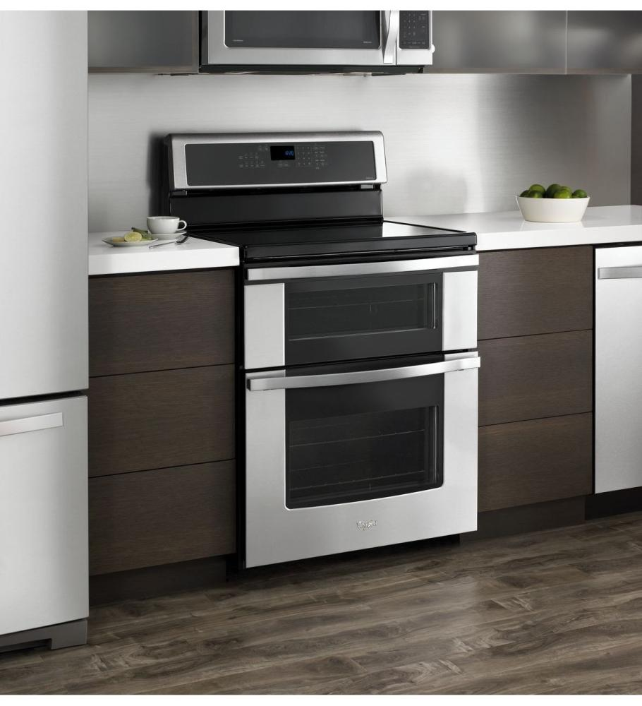 Gas Stoves Double Ovens Oven Range: Induction Cooktop Range With Double Oven