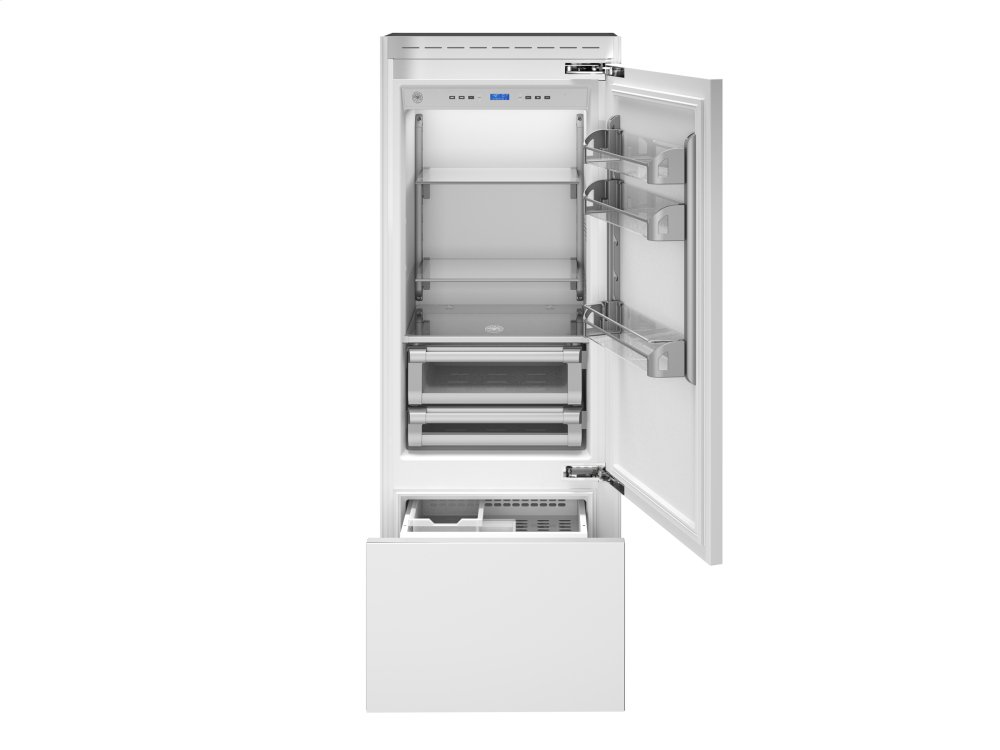 30 Built-In Bottom Mount Panel Ready Stainless  Stainless