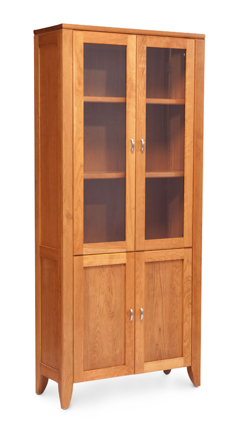 Bookcase With Glass Doors Cheap Bayside Furnishings Glass