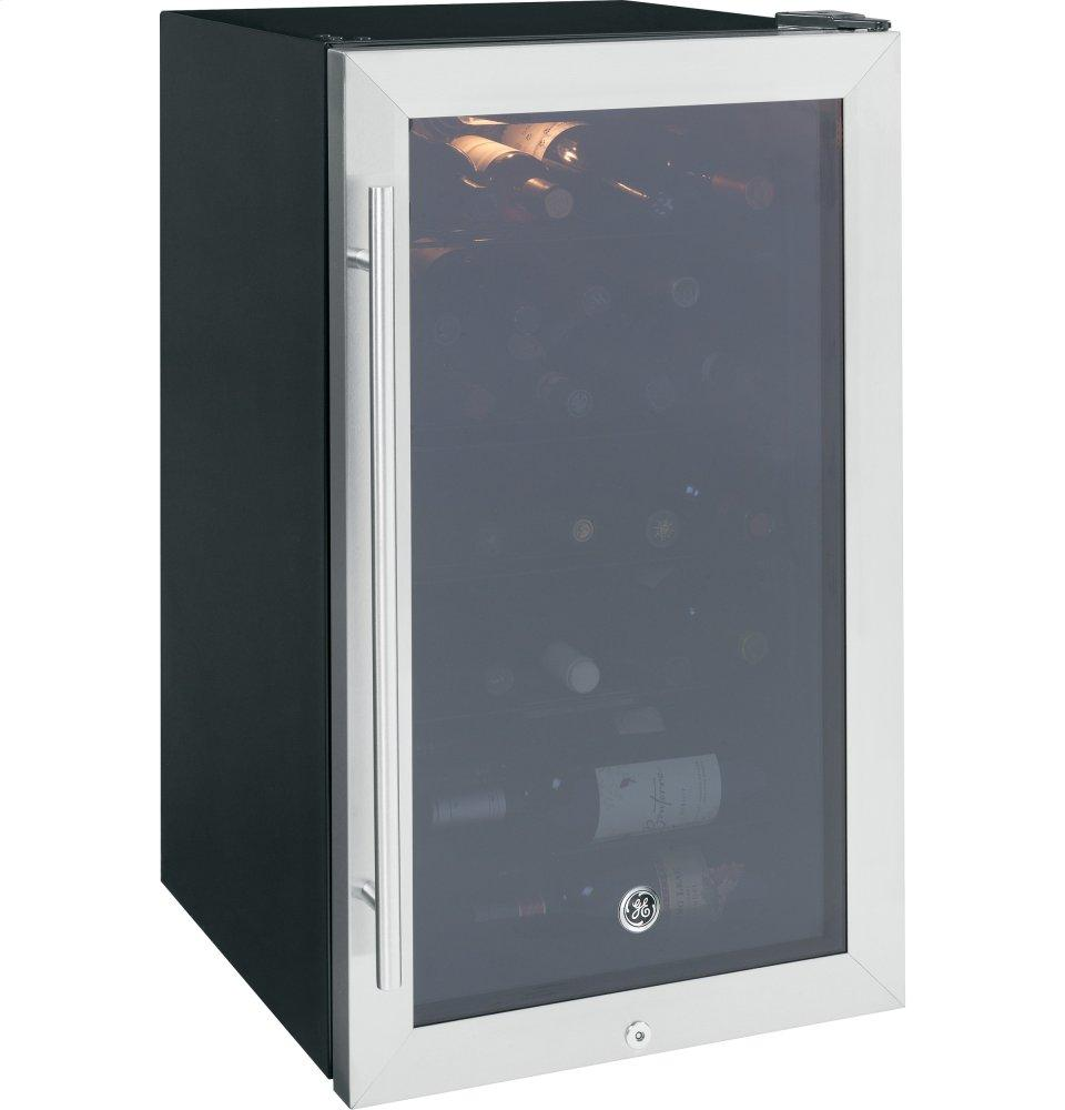 GE(R) Wine Center  Stainless with Black Case