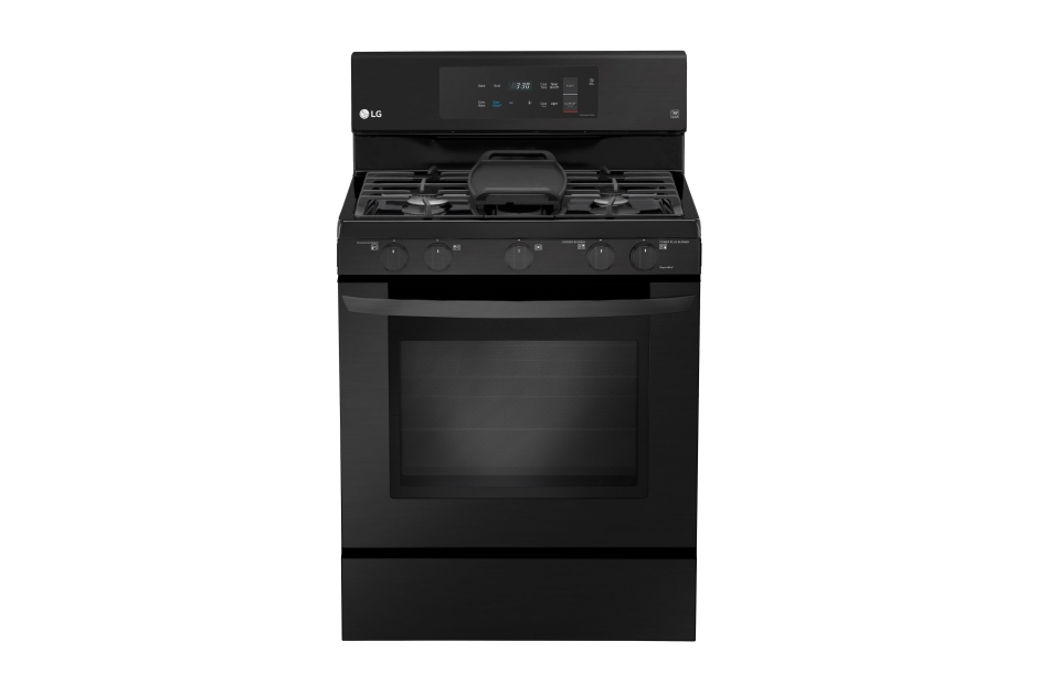 LG Matte Black Stainless Steel 5.4 cu. ft. Capacity Gas Single Oven Range with EvenJet Fan Convection and EasyClean(R)