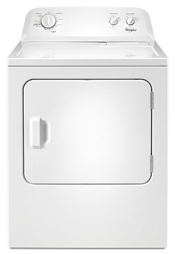 7.0 cu.ft Top Load Electric Dryer with Wrinkle Shield  White
