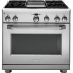 "GE MonogramMONOGRAMMonogram(R) 36"" Dual-Fuel Professional Range with 4 Burners and Griddle (Natural Gas)"