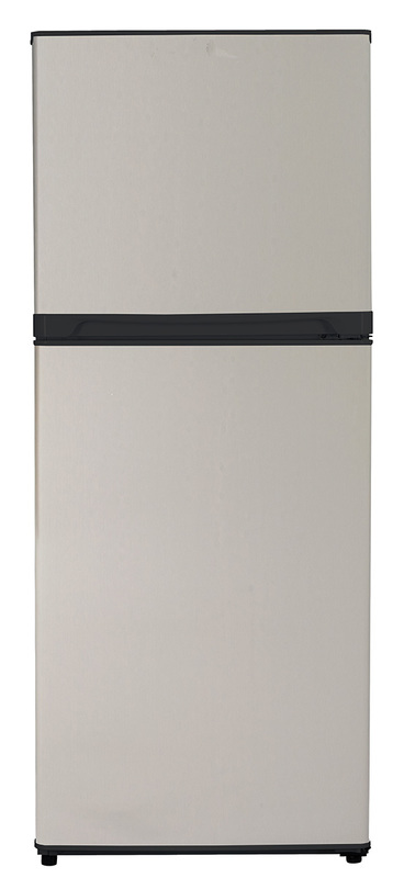 10.0 Cu. Ft. Frost Free Refrigerator - Stainless Steel  Black Cabinet with Stainless Steel Doors