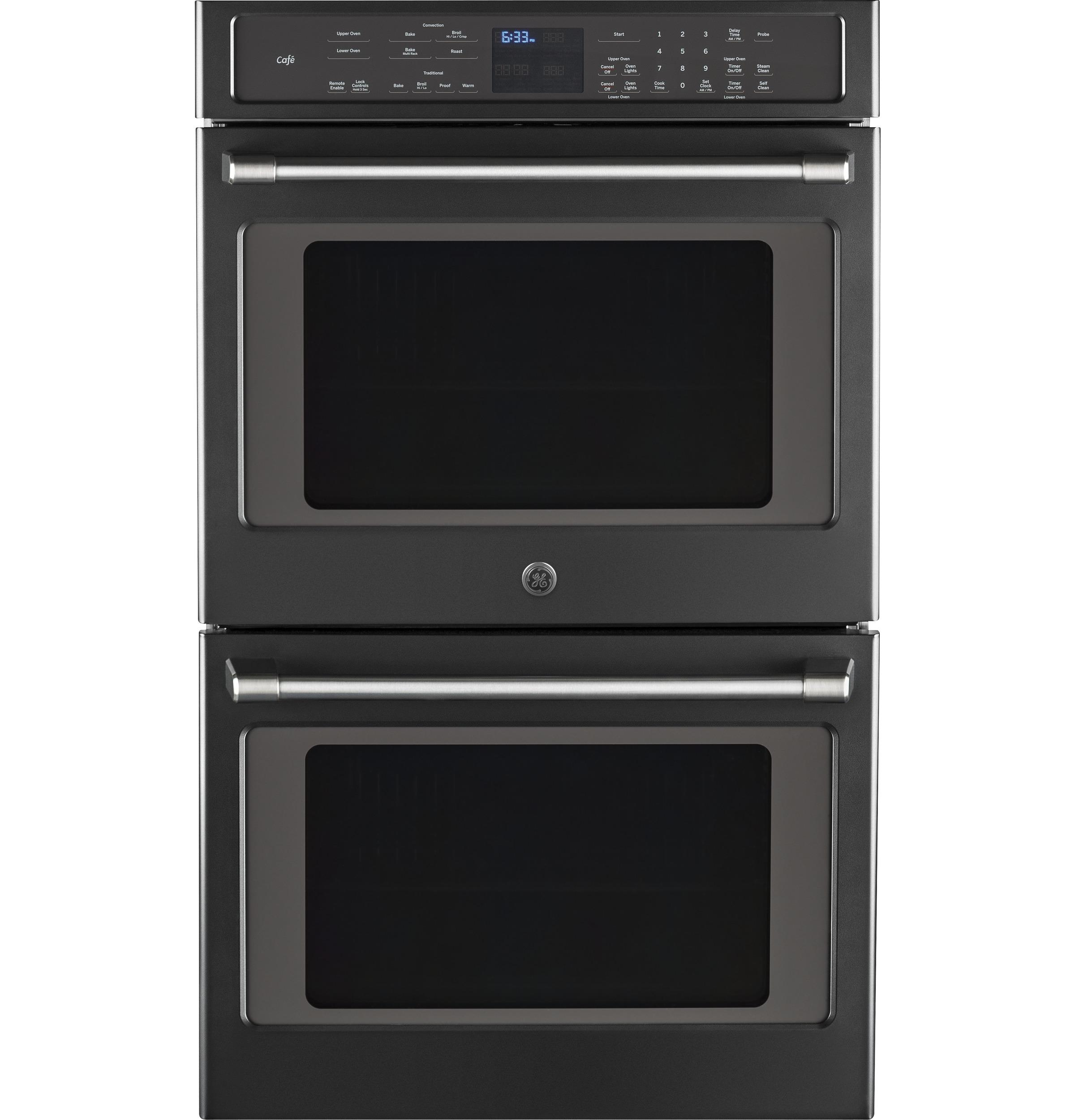 "GE Cafe(TM) Series 30"" Built-In Double Convection Wall Oven