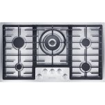 MieleMiele Gas cooktop in maximum width for the best possible cooking and user convenience.
