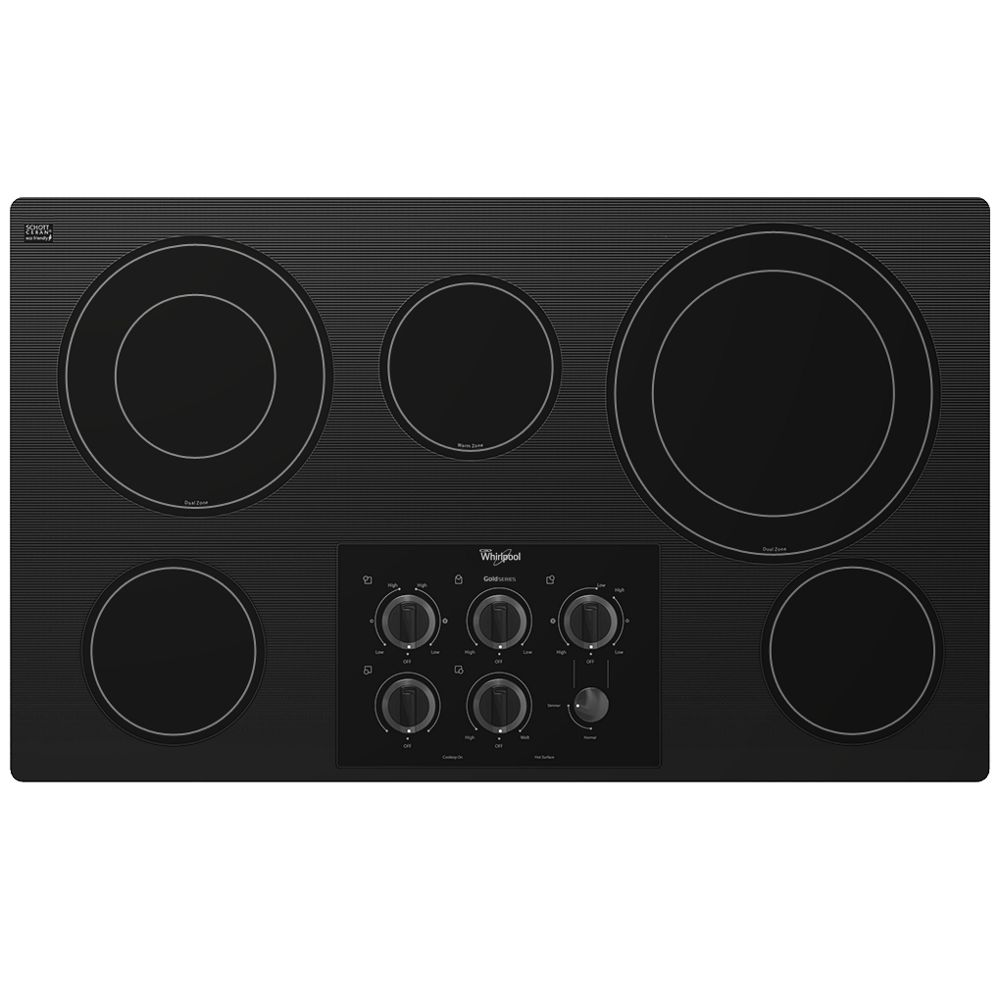 Gold(R) 36-inch Electric Ceramic Glass Cooktop with Two Dual Radiant Elements