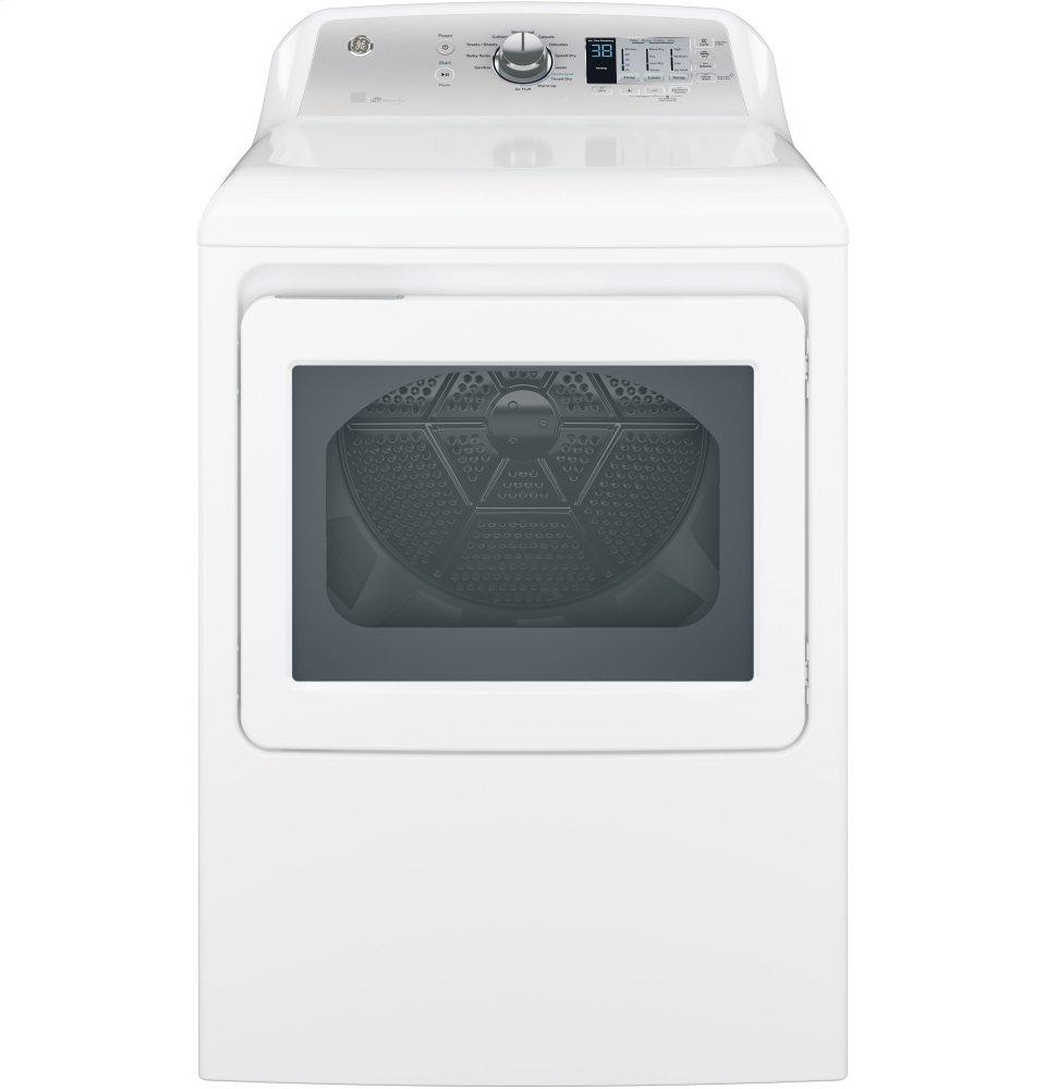 GE(R) 6.1 cu. ft. capacity aluminized alloy drum electric dryer with HE Sensor Dry