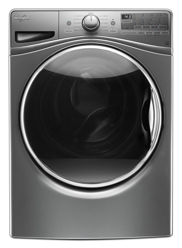 4.2 cu. ft. Front Load Washer with Closet-Depth Fit  Chrome Shadow