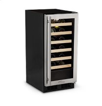 "15"" High Efficiency Single Zone Wine Cellar - Panel Overlay Frame Glass Door - Integrated Right Hinge"
