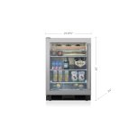 Sub ZeroSub Zero 24&quot Undercounter Beverage Center - Stainless Door