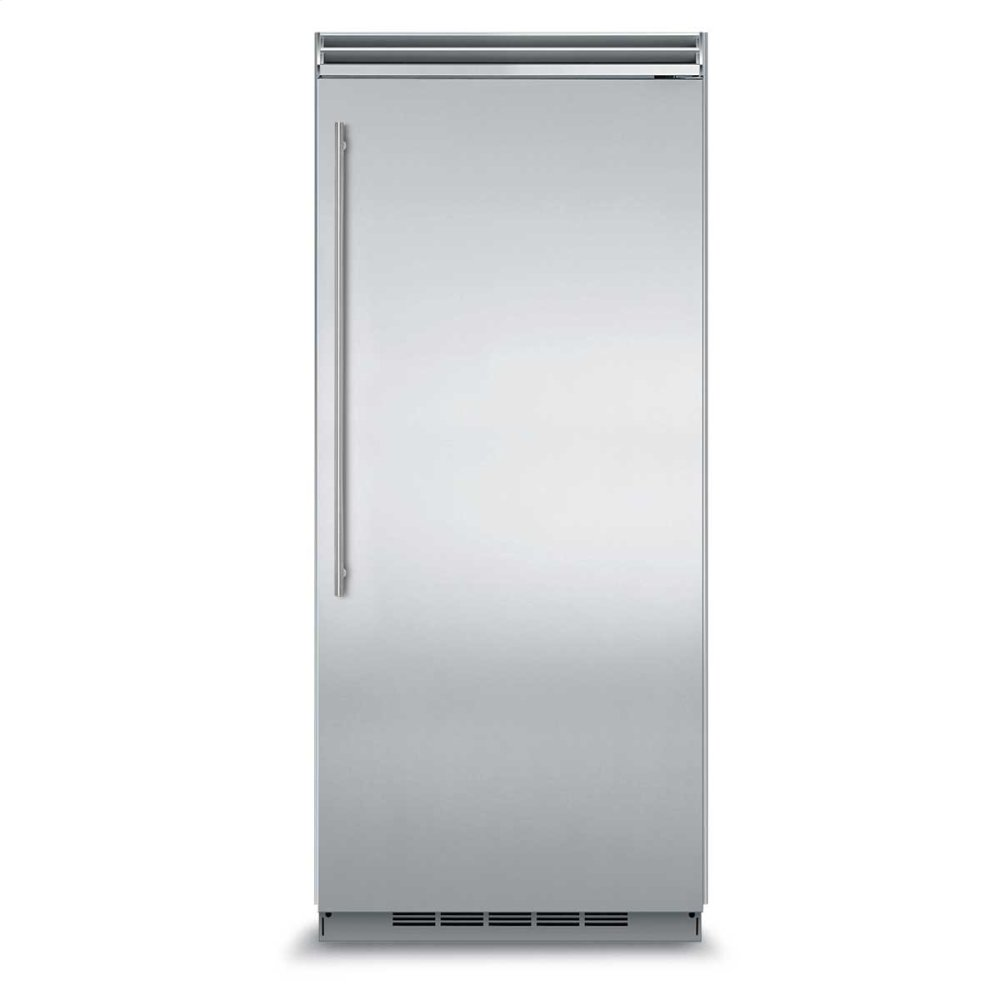 "Professional Built-In 36"" All Freezer - Solid Stainless Steel Door - Right Hinge, Slim Designer Handle"