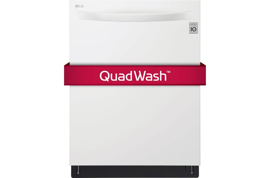 Top Control Dishwasher with QuadWash and EasyRack Plus  White