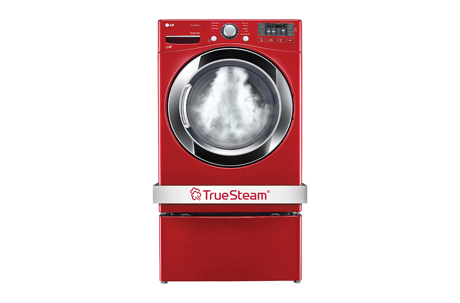 7.4 cu. ft. Ultra Large Capacity SteamDryer w/ NFC Tag On (Gas)  Wild Cherry Red