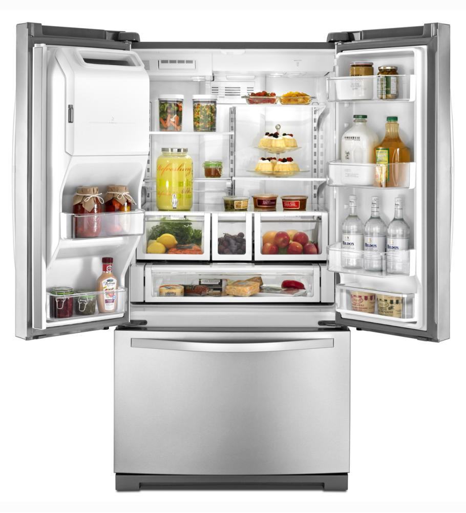 Wrf736sdab whirlpool 36 inch wide french door refrigerator with microedge r shelves 25 cu - Whirlpool discount ...