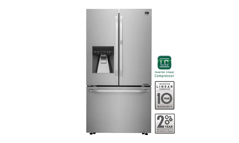 LG STUDIO - 24 cu. ft. Counter-Depth French Door Refrigerator with Door-in-Door(R)