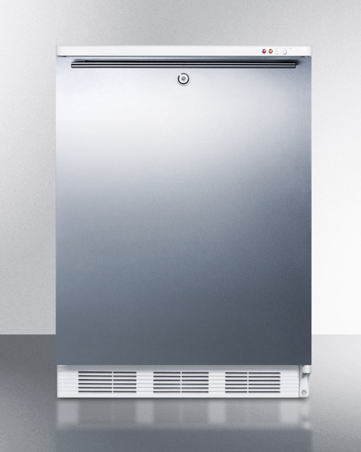 Commercial Built-in Medical All-freezer Capable of -25 C Operation, With Front Lock, Wrapped Stainless Steel Door and Horizontal Handle
