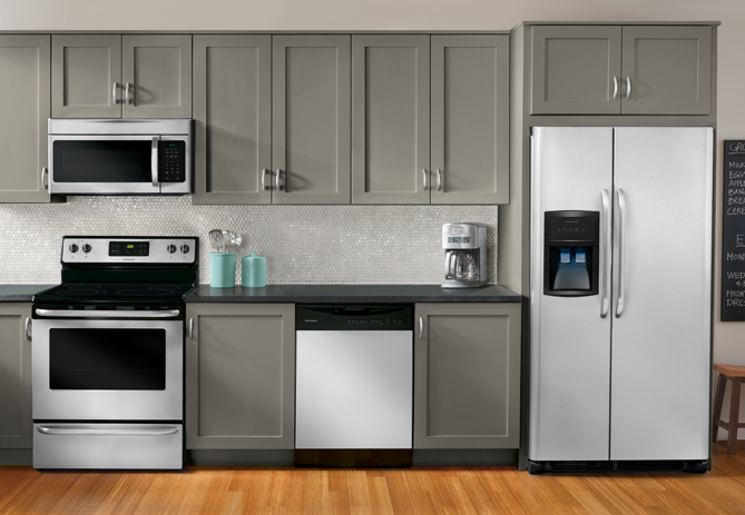 ordinary Frigidaire Kitchen Appliance Package #10: Additional Frigidaire 25.6 Cu. Ft. Side-by-Side Refrigerator ...