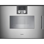 Gaggenau200 series 200 series Combi-steam oven Full glass door in Gaggenau Metallic Width 24&quot (60 cm) Left-hinged Controls on top