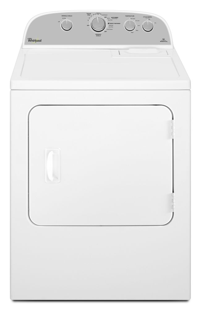 5.9 Cu. Ft. Top Load Gas Dryer with Wrinkle Shield Option  White