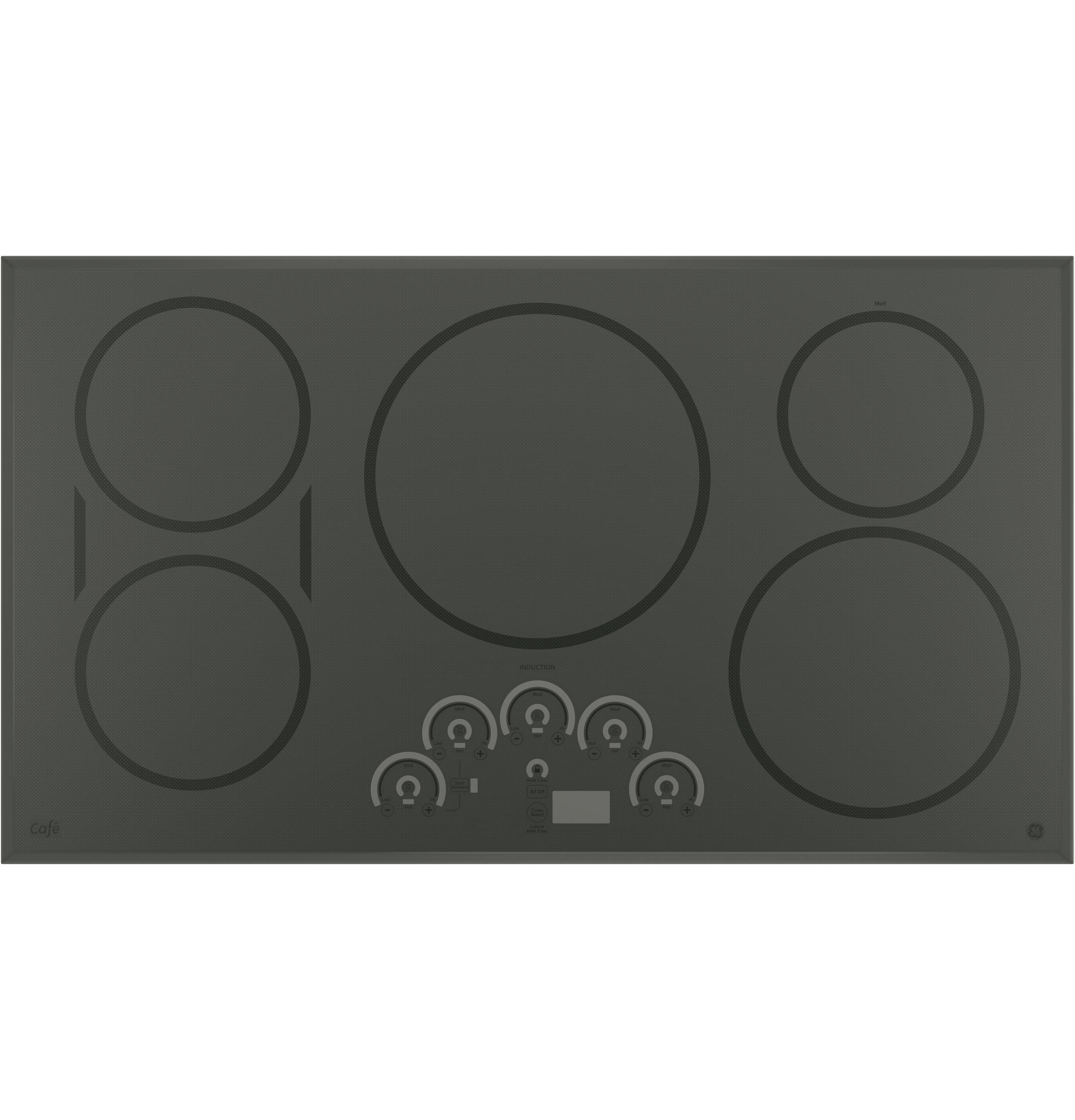 """GE Cafe(TM) Series 36"""" Built-In Touch Control Induction Cooktop  Gray"""