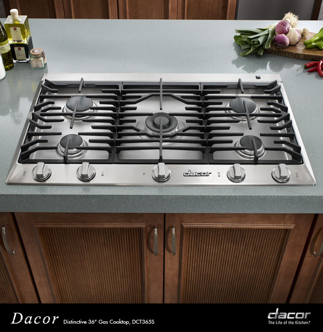 dct365slp dacor distinctive 36 gas cooktop in