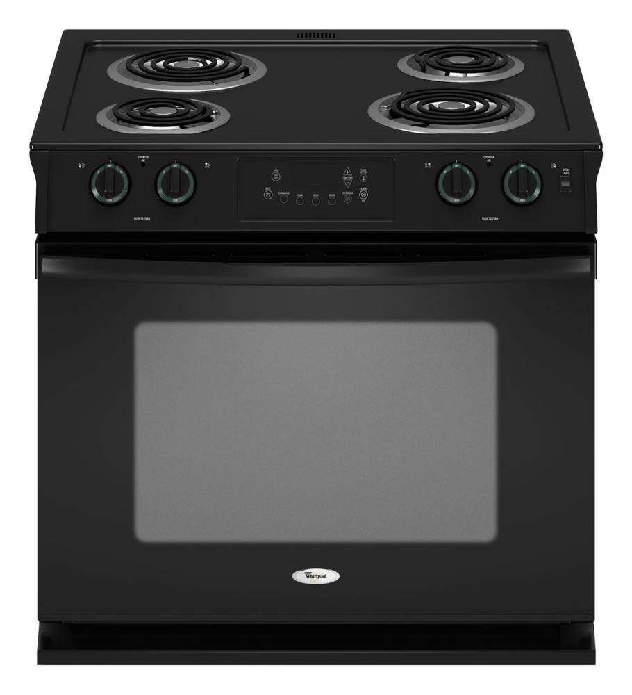 Wde150lvq whirlpool 30 inch drop in electric range white aus tex appliance - Inch electric range reviews ...