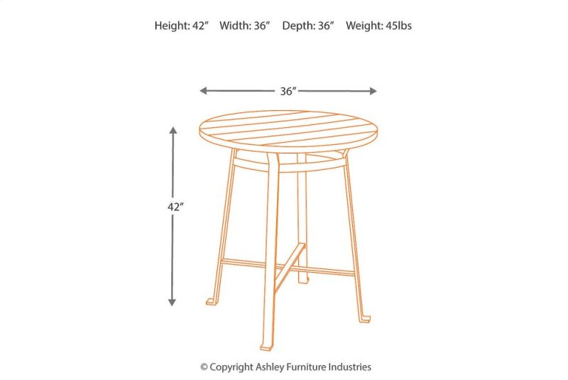 Hidden Additional Round Dining Room Bar Table