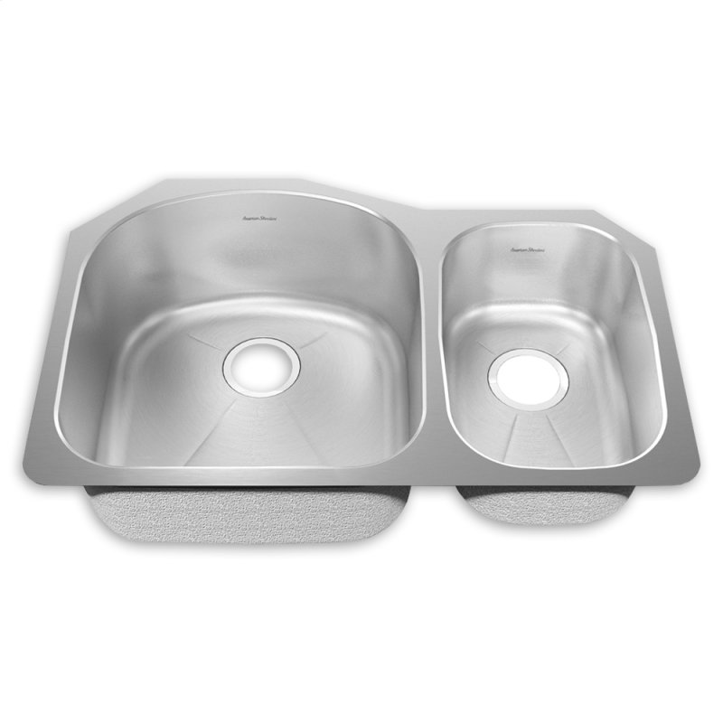 ... Combo Sink with Creaase Bottom and Small Bowl on right Kitchen Sink