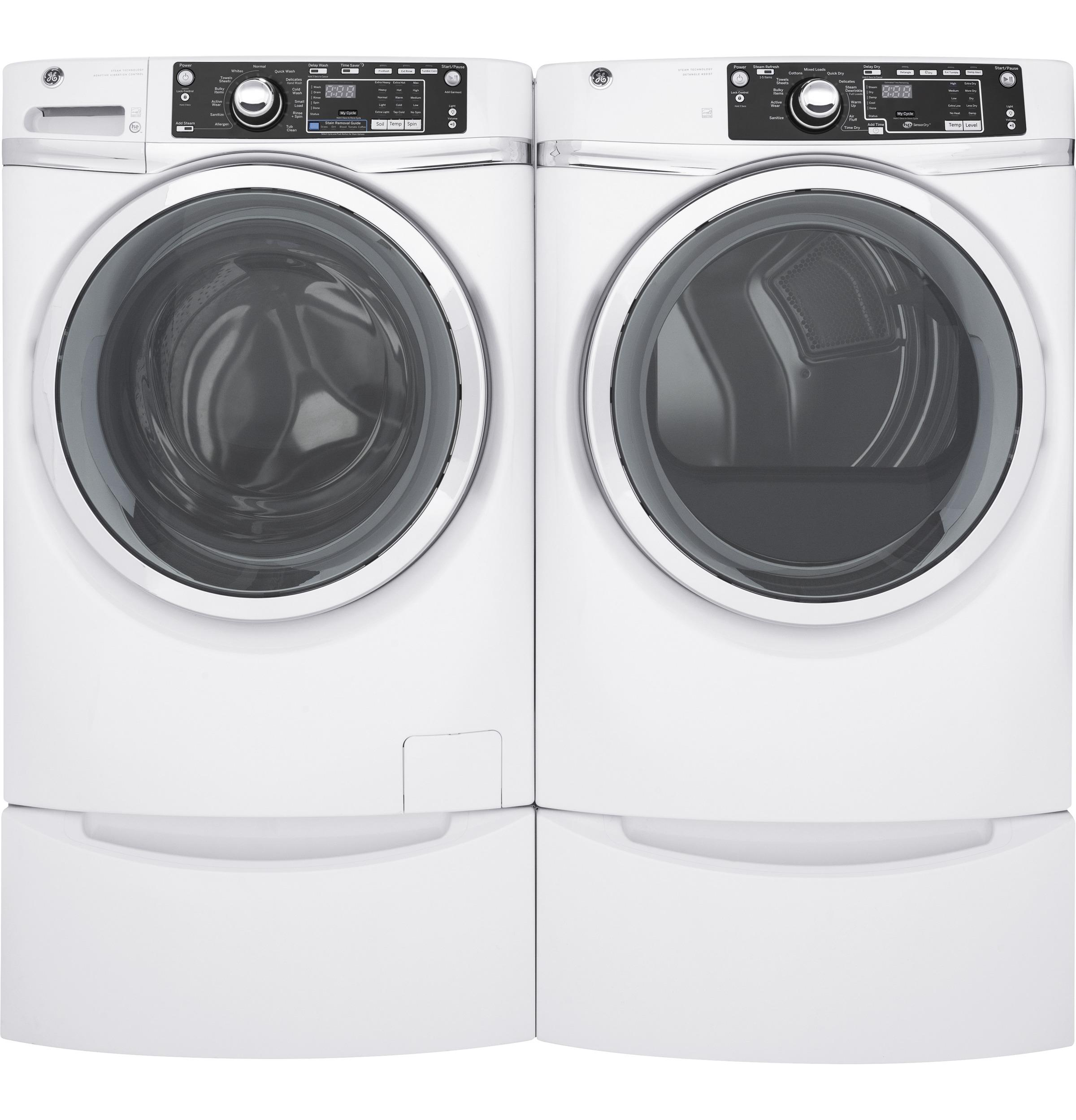 GE(R) 8.3 cu. ft. capacity Front Load electric ENERGY STAR(R) dryer with steam