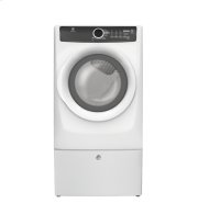 SAVE $200 / LIKE NEW - 6 MONTH FULL WARRANTY - Front Load Perfect Steam™ Electric Dryer with 7 cycles - 8.0 Cu. Ft. (MINOR REPAIR MADE FOR RUBBING NOISE) FULLY TESTED -  (IMAGES SHOWN WITH OPTIONAL PEDESTAL)