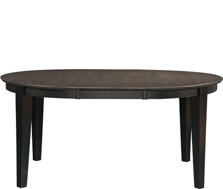 Oval Butterfly Extension Table Coal / Black Hidden