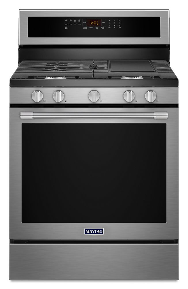 30-Inch Wide Gas Range With True Convection And Power Preheat - 5.8 Cu. Ft.  Fingerprint Resistant Stainless Steel