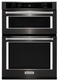 "27"" Combination Wall Oven with Even-Heat(TM) True Convection (lower oven) - Black Stainless"