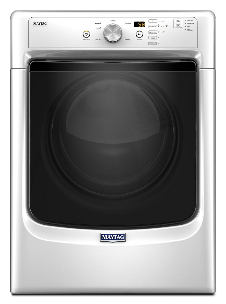 Large Capacity Dryer with Wrinkle Prevent Option and PowerDry System - 7.4 cu. ft.  White