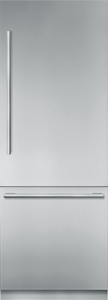 30 inch Stainless Steel Built in 2 Door Bottom Freezer, Pre-Assembled, Masterpiece(R) Handle T30BB910SS