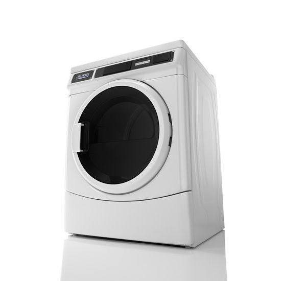 Commercial Single Load, Super Capacity Gas Dryer  White