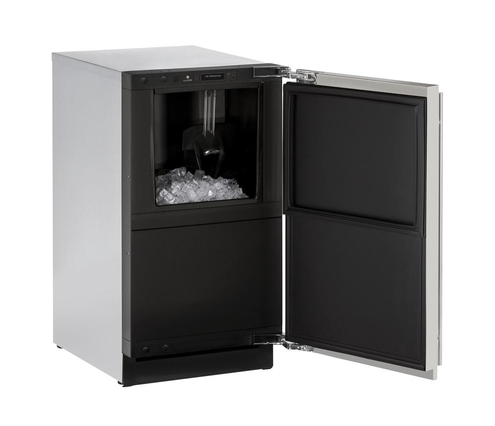 "Modular 3000 Series 18"" Clear Ice Machine With Stainless Solid Finish and Field Reversible Door Swing