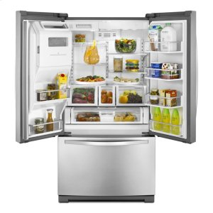 WRF989SDAM&nbspWhirlpool&nbsp27 cu. ft. French Door Refrigerator with Flexible Capacity that Stores More