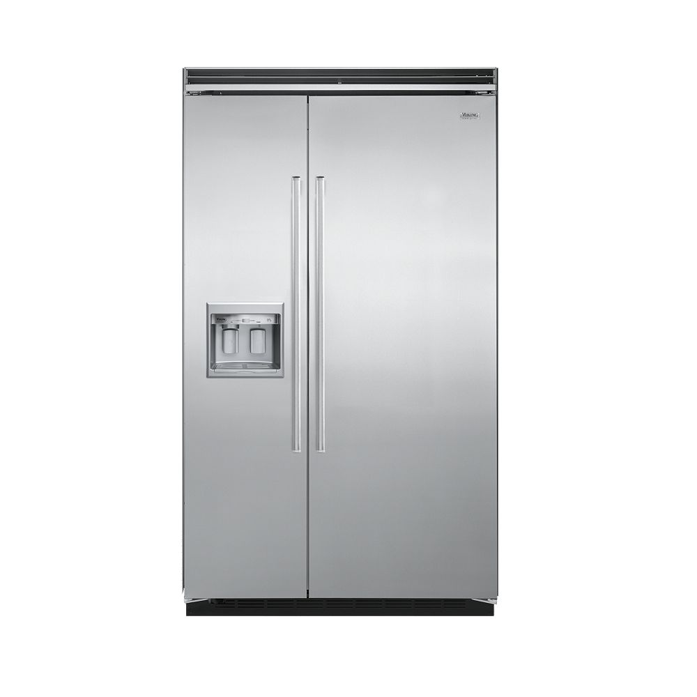 """VikingStainless Steel 48"""" Quiet Cool(TM) Side-by-Side with Dispenser - DDSB (48"""" wide)"""