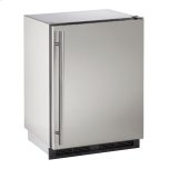 "u-line1000 Series 24"" Outdoor Refrigerator With Stainless Solid Finish and Field Reversible Door Swing"