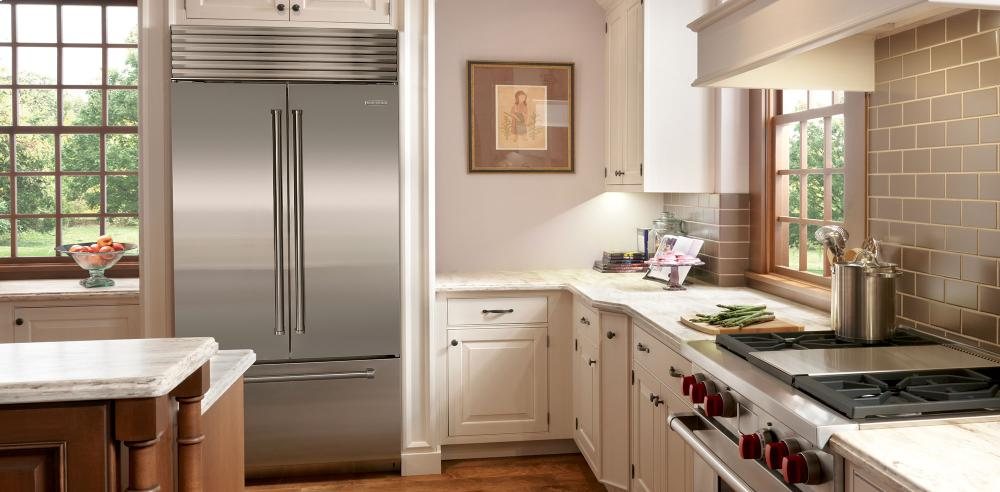 Sub Zero Bi 36ufd Over And Under With French Door   Classic Stainless