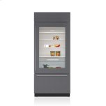 "Sub Zero 36"" Classic Over-And-Under Refrigerator/freezer With Glass Door - Panel Ready"