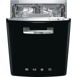 SmegSmeg Approx 24&quot Pre-finished Under-Counter Dishwasher with 50'S Style Retro handle, Black