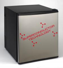 SUPERCONDUCTOR Refrigerator  Black Cabinet with Stainless Steel Door