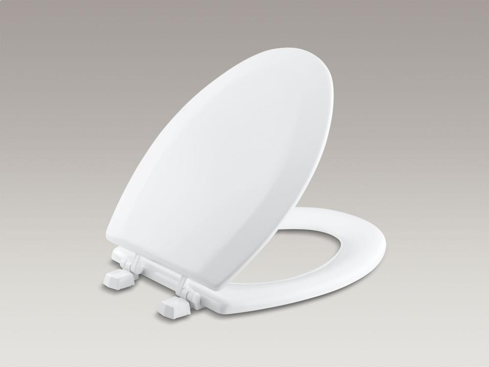 Hidden   Additional Ice Grey Elongated Toilet Seat With Plastic Hinges  Hidden   Additional. Kohler K4712T95   Studio41   Ice Grey Elongated Toilet Seat With
